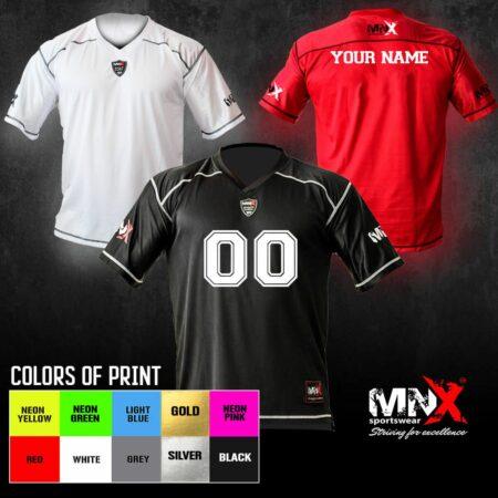 DIY football jersey all colors