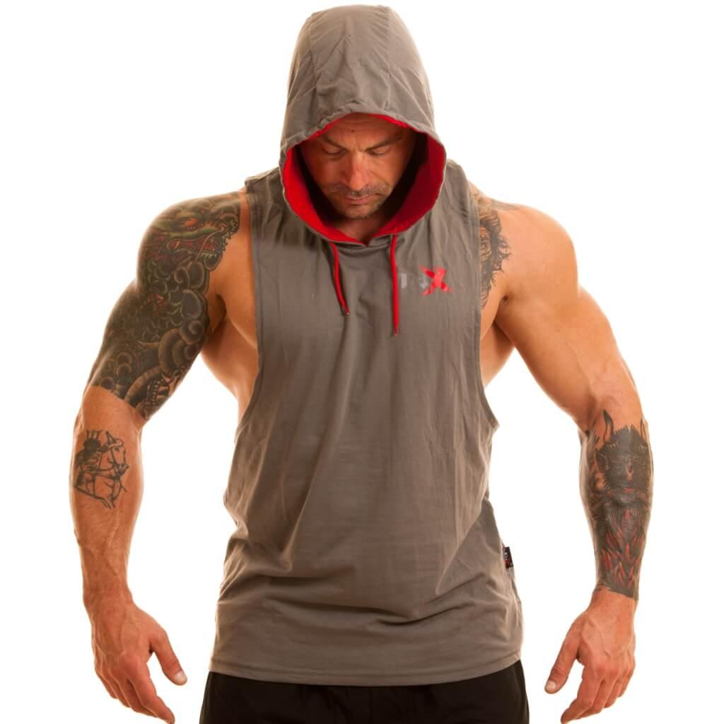 8cdaba0b4c116 MNX Hooded tank top Grey – MNX Sportswear