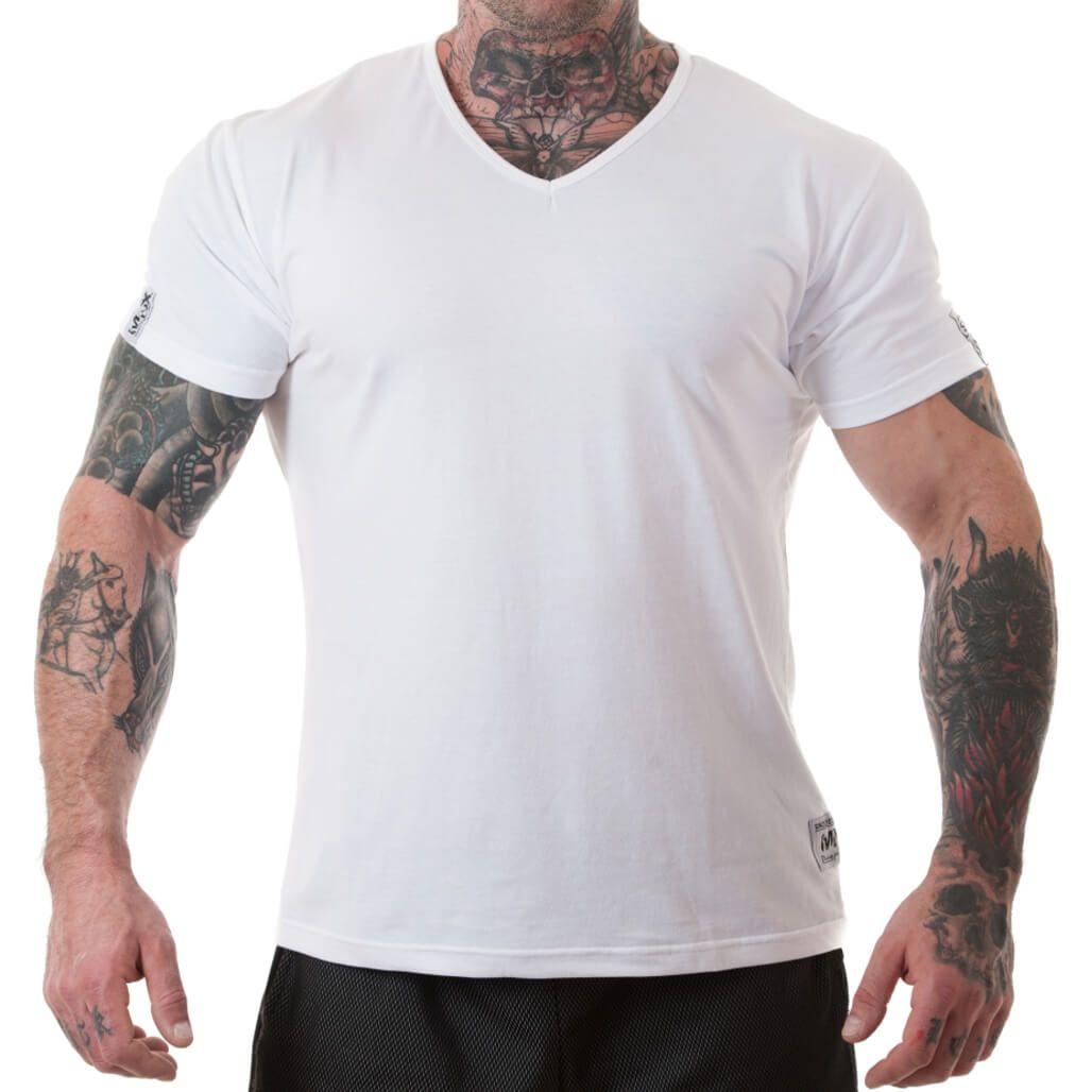 online store 6cb51 b599a MNX V neck basic T-shirt, white
