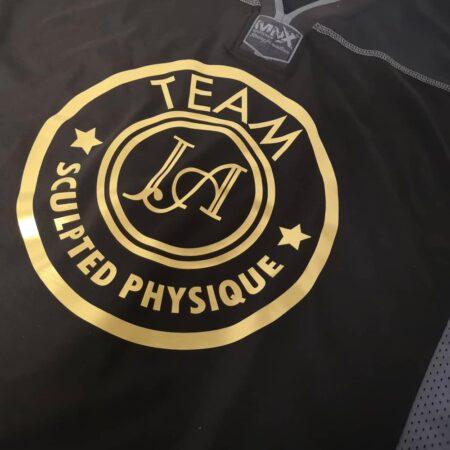 Black Cotton football jersey Team JA